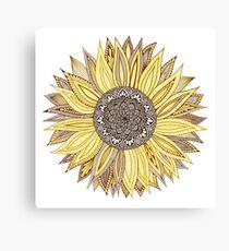 Sonnenblume-Mandala Leinwanddruck