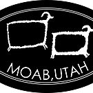 Moab, Utah - Desert Bighorn Petroglyph Style Design by strayfoto