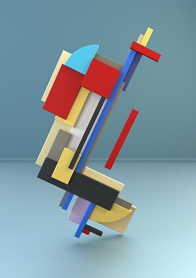 Constructivism & Suprematism in the style of Sergei Senkin (5 of 9)  by paulstayt