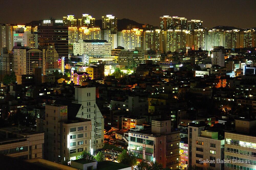Incheon at Night by Saikat Babin Biswas