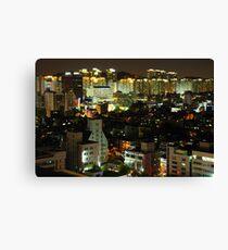 Incheon at Night Canvas Print