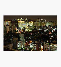 Incheon at Night Photographic Print