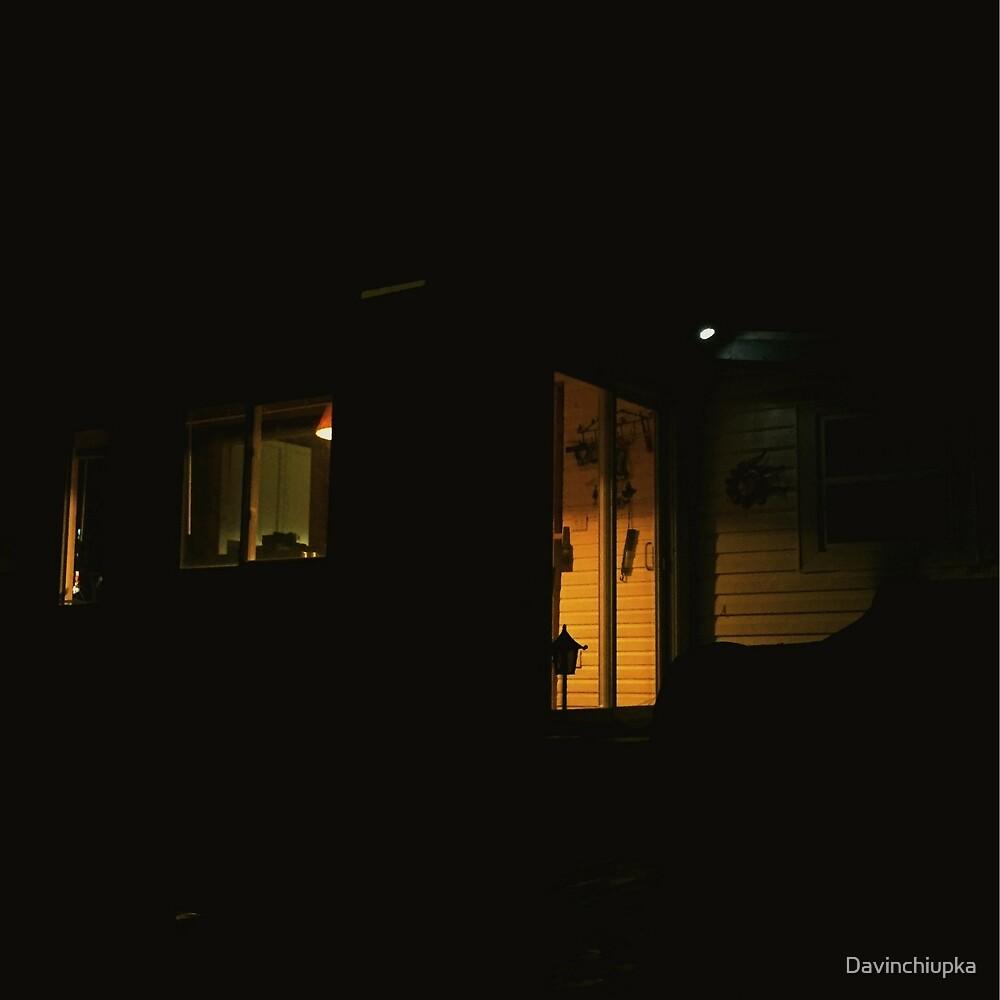 Night Time Cabin  by Davinchiupka