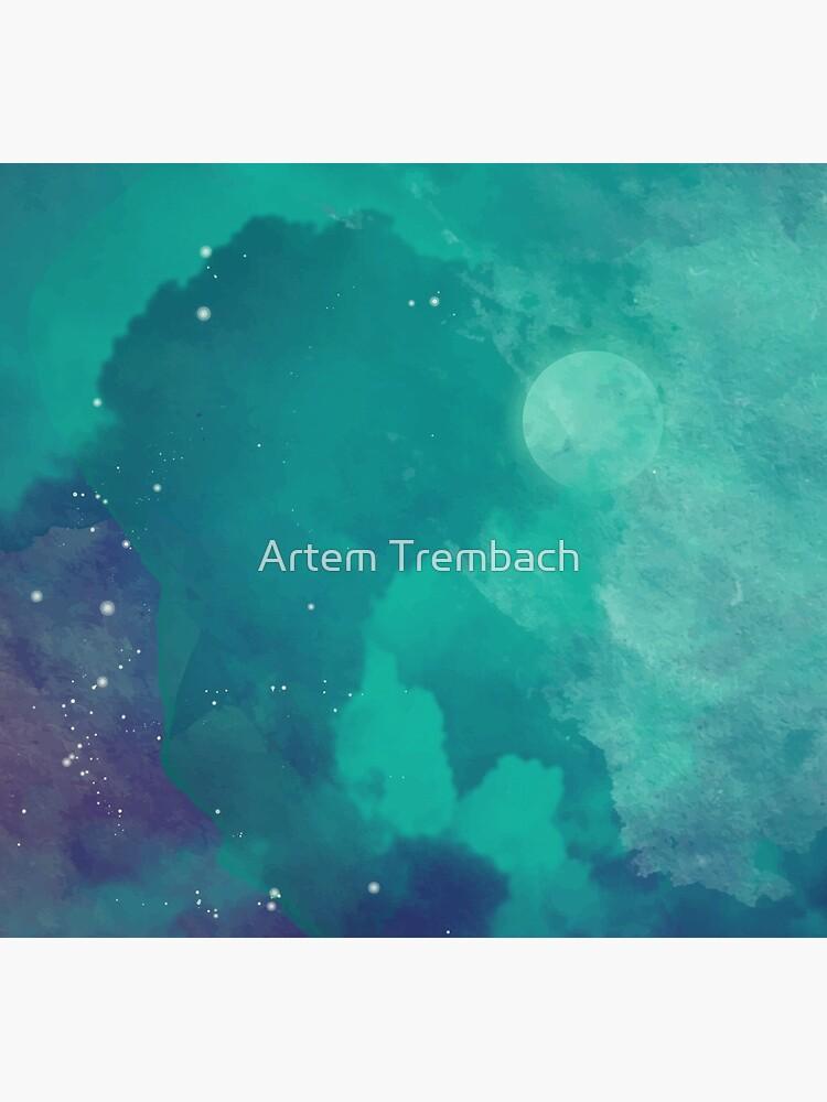 Nachthimmel [Aquarell] von Artem-Witness