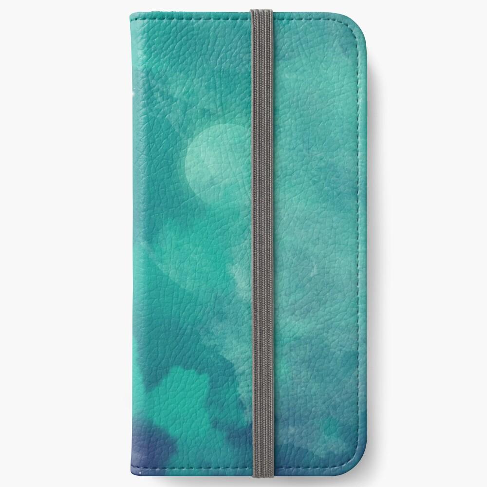 Nachthimmel [Aquarell] iPhone Flip-Case