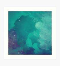 Night sky [watercolor] Art Print