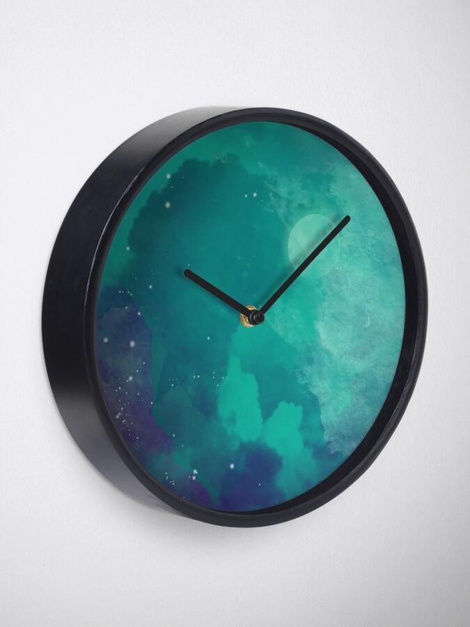 Vista alternativa de Reloj Cielo nocturno [acuarela]