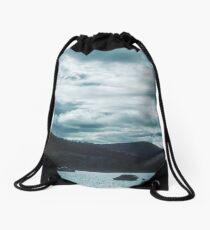 Camp site Urquhart Bay on Loch Ness Fort Augustus Scotland 19840909 0010  Drawstring Bag
