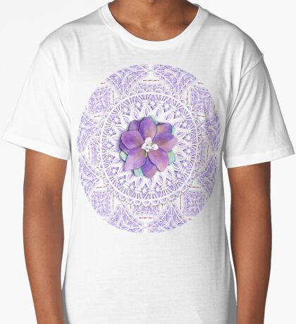 Victorian Flower Lace Long T-Shirt