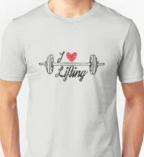 i love lifting, weightlifter t-shirt, distressed style Unisex T-Shirt