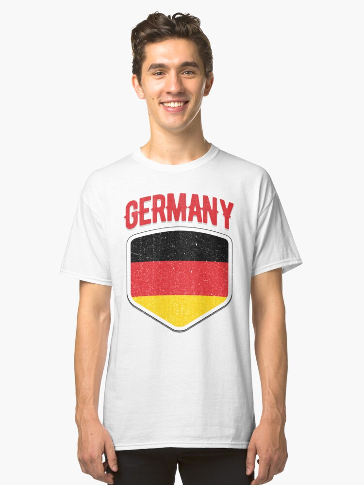 2018 Germany Flag Soccer German Shirt World Jersey Cup TShirt Classic T-Shirt Front