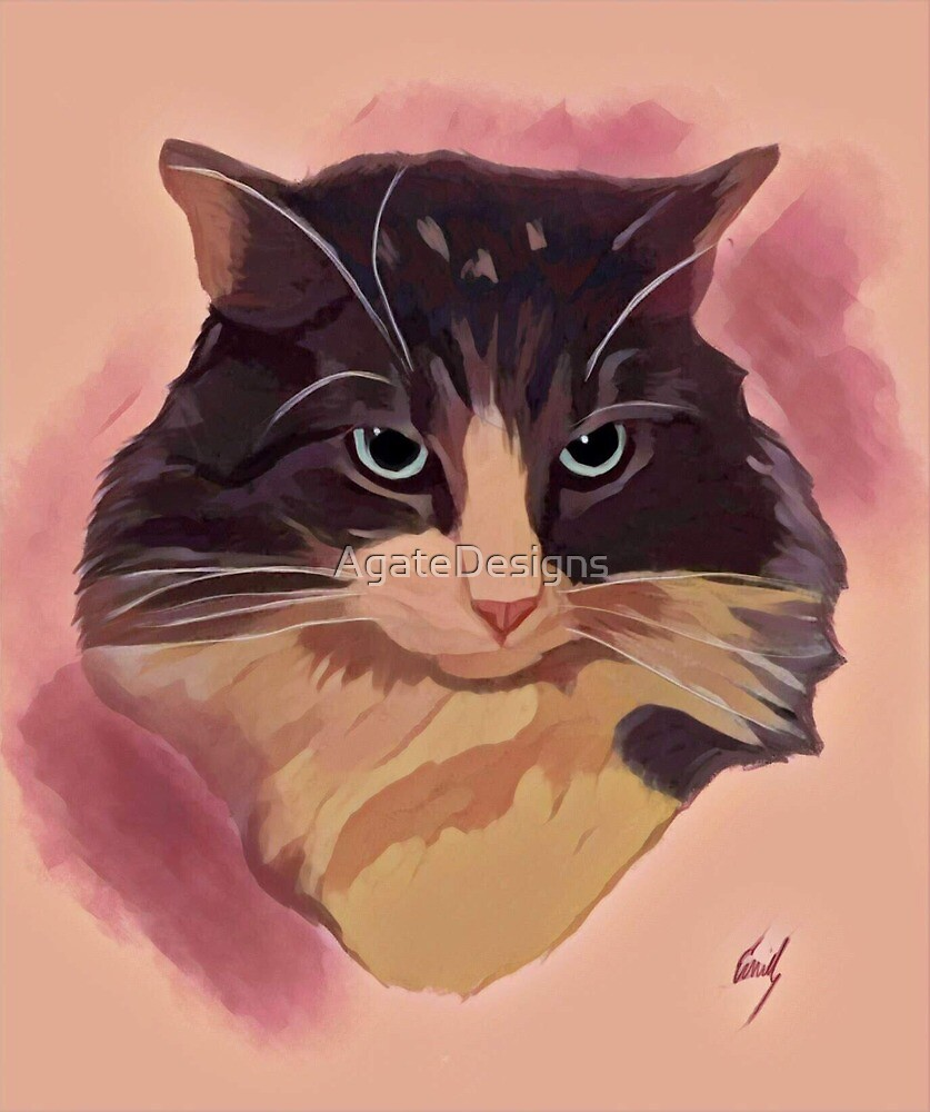 Cat Portrait by AgateDesigns