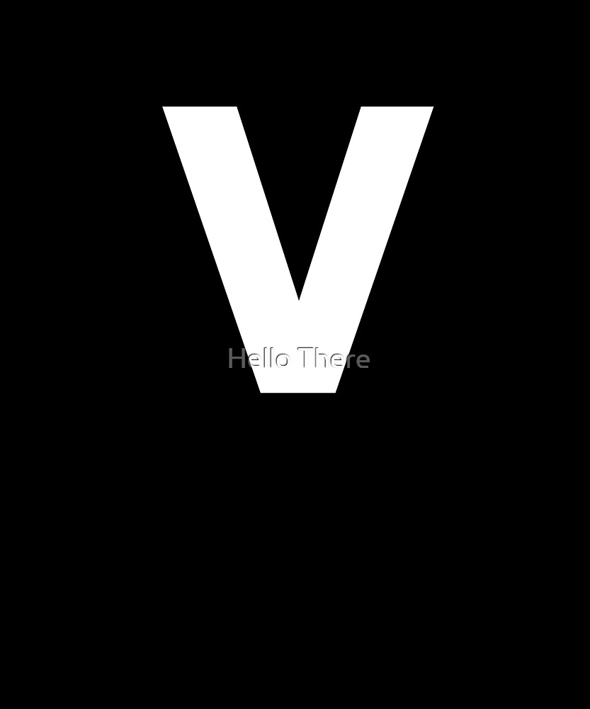 Letter V - Simple Text by TheFamilyCrest