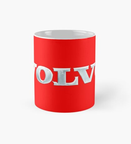 Old Volvo Emblem - Standard and Travel Mug (Red) Mug