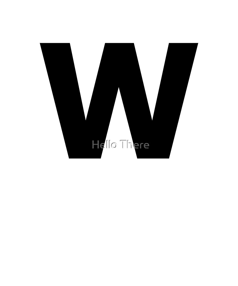 Letter W - Simple Text by TheFamilyCrest