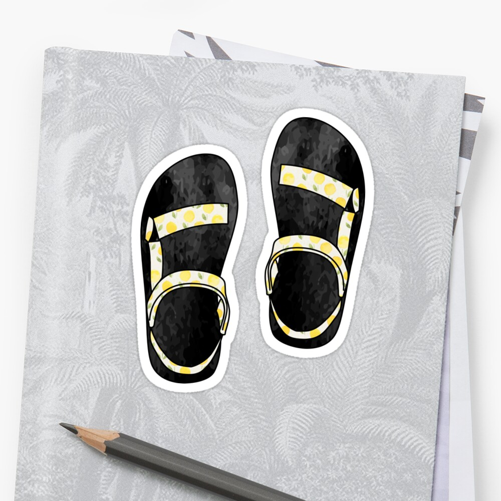 Yellow Floral Tevas by its-anna