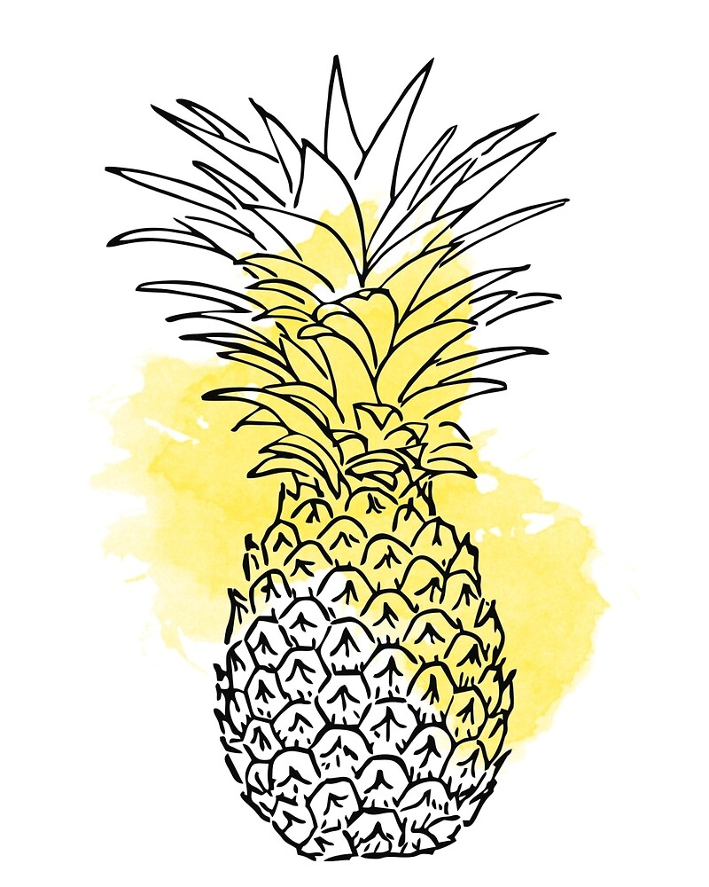Yellow Pineapple by Victoria  Randall