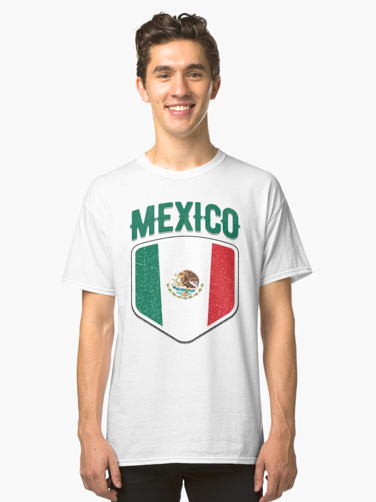 2018 Mexico Flag Soccer T Shirt Football Jersey Cup Tshirt     Classic T-Shirt Front