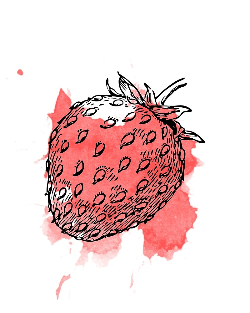 Red Strawberry by Victoria  Randall