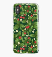 Strawberry pattern iPhone Case