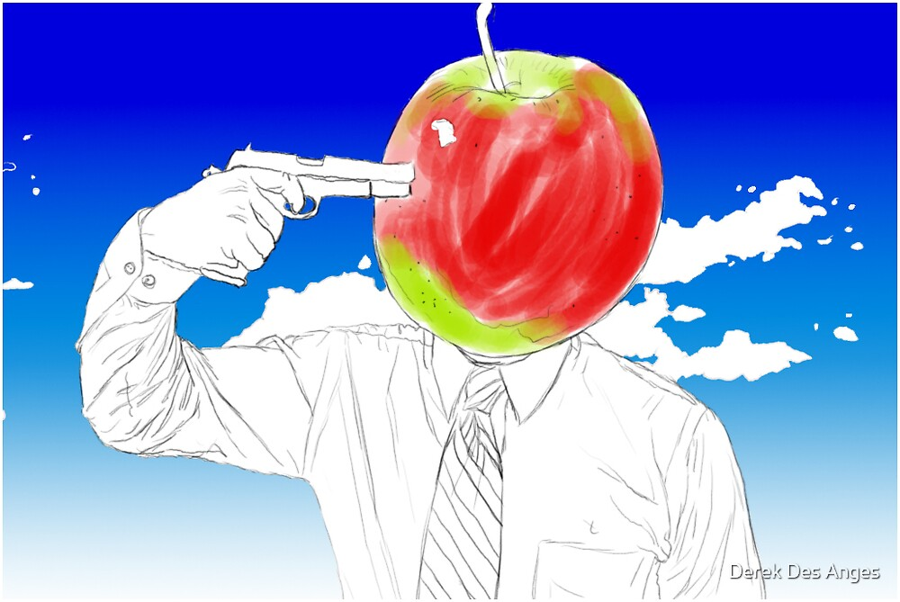 Tribute To Magritte: William Tell by Derek Des Anges