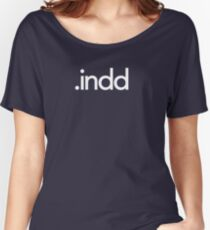 Adobe InDesign File Extension - Creative Cloud Women's Relaxed Fit T-Shirt