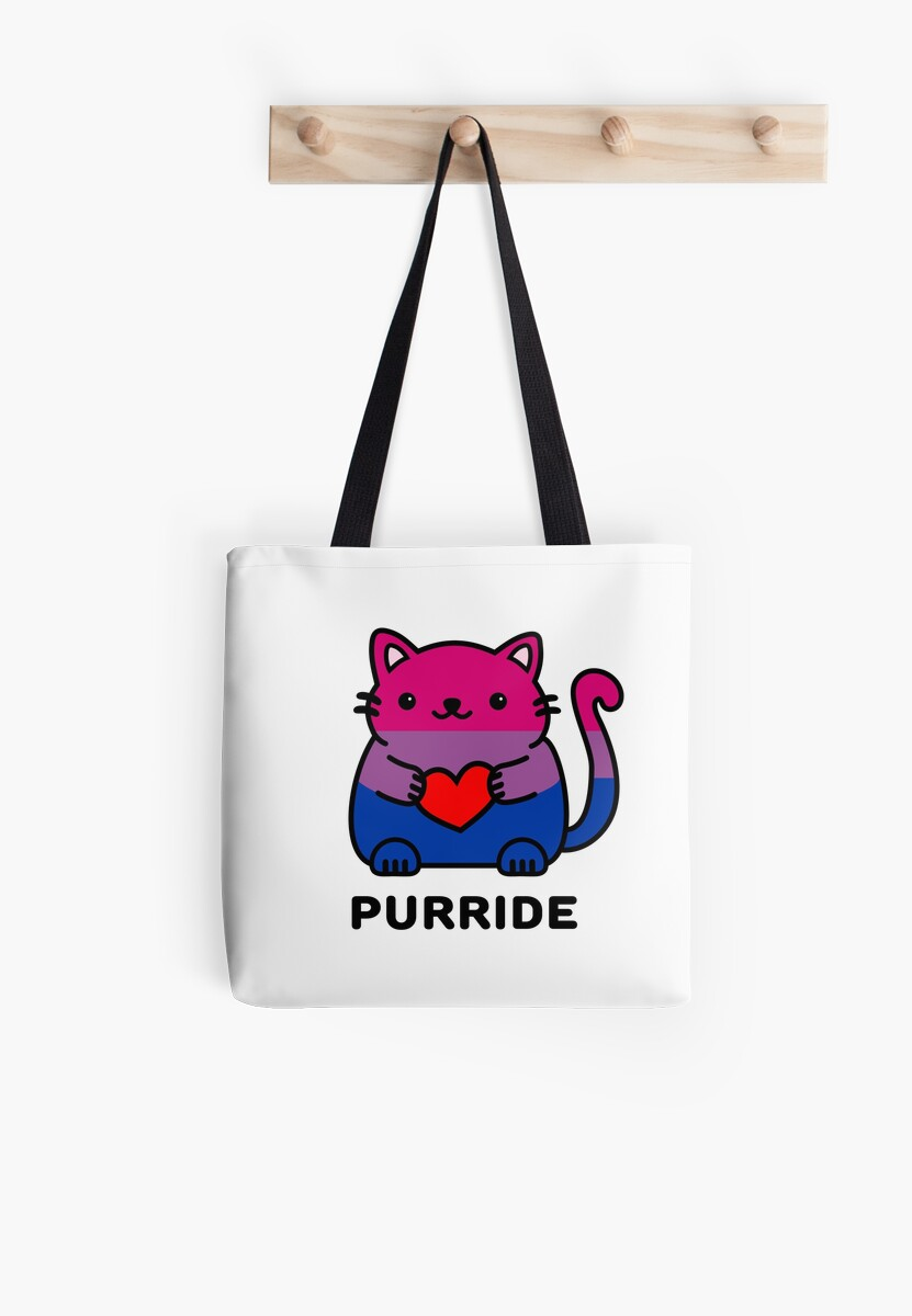 Purride. Bisexual Pride Flag Kitty by ilexdesigns