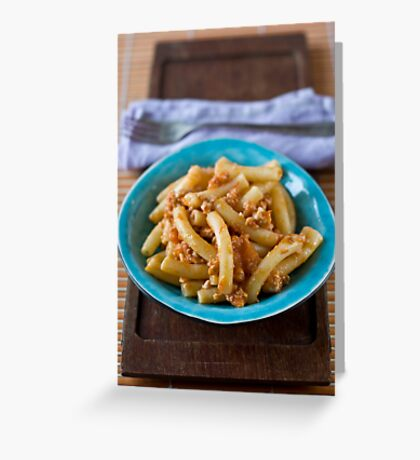 Pasta with ragú Greeting Card