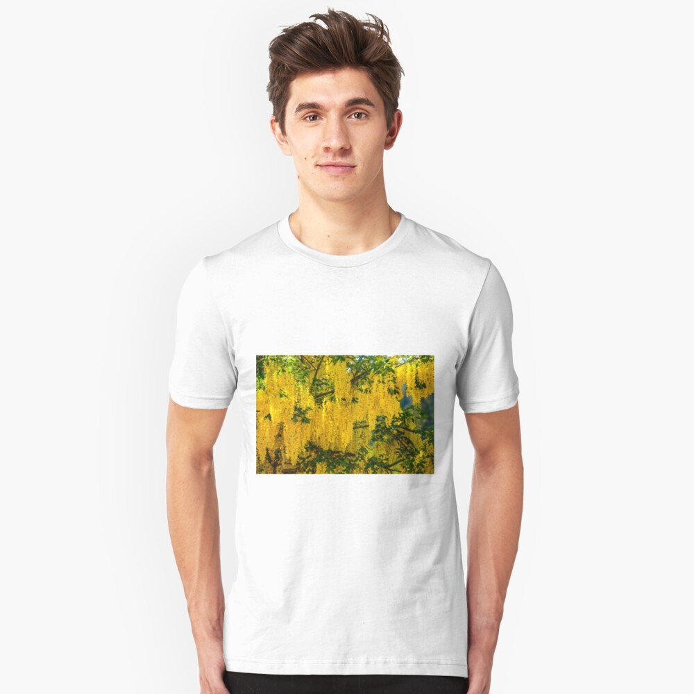 Dangling Yellow Blossoms Unisex T-Shirt Front