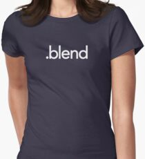Blender File Extension Women's Fitted T-Shirt