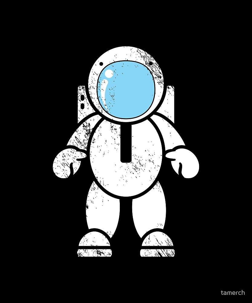 Astronaut weightless by tamerch