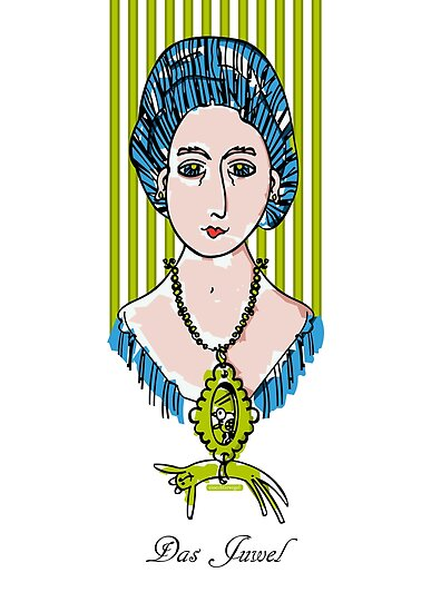 The jewel, woman face with cat by einechtervogel