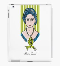 The jewel, woman face with cat iPad Case/Skin