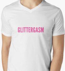 Glittergasm Logo - Hot Pink V-Neck T-Shirt