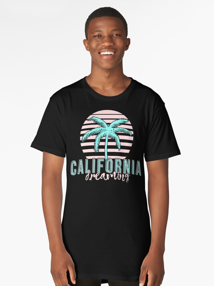 California Dreaming Neon Colorway Long T-Shirt Front