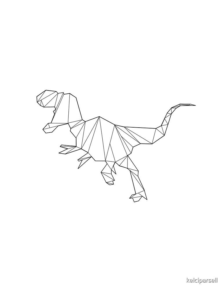 Geometric Tyrannosaurus Dinosaurus by kelciparsell
