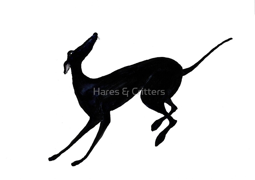 RUNNING GREYHOUND g109 by Hares & Critters