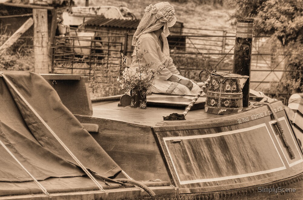 Steering The Butty - Braunston by SimplyScene