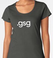 Greyscale Gorilla File Extension Women's Premium T-Shirt