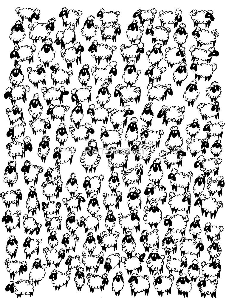 Sheeps  by RenStocker