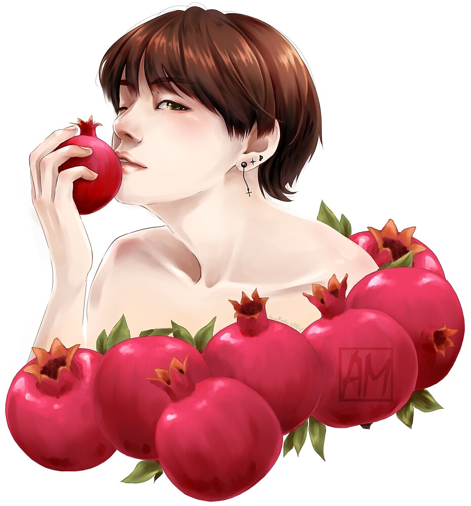 Pomegranate Taehyung by AliM-ReinAkira