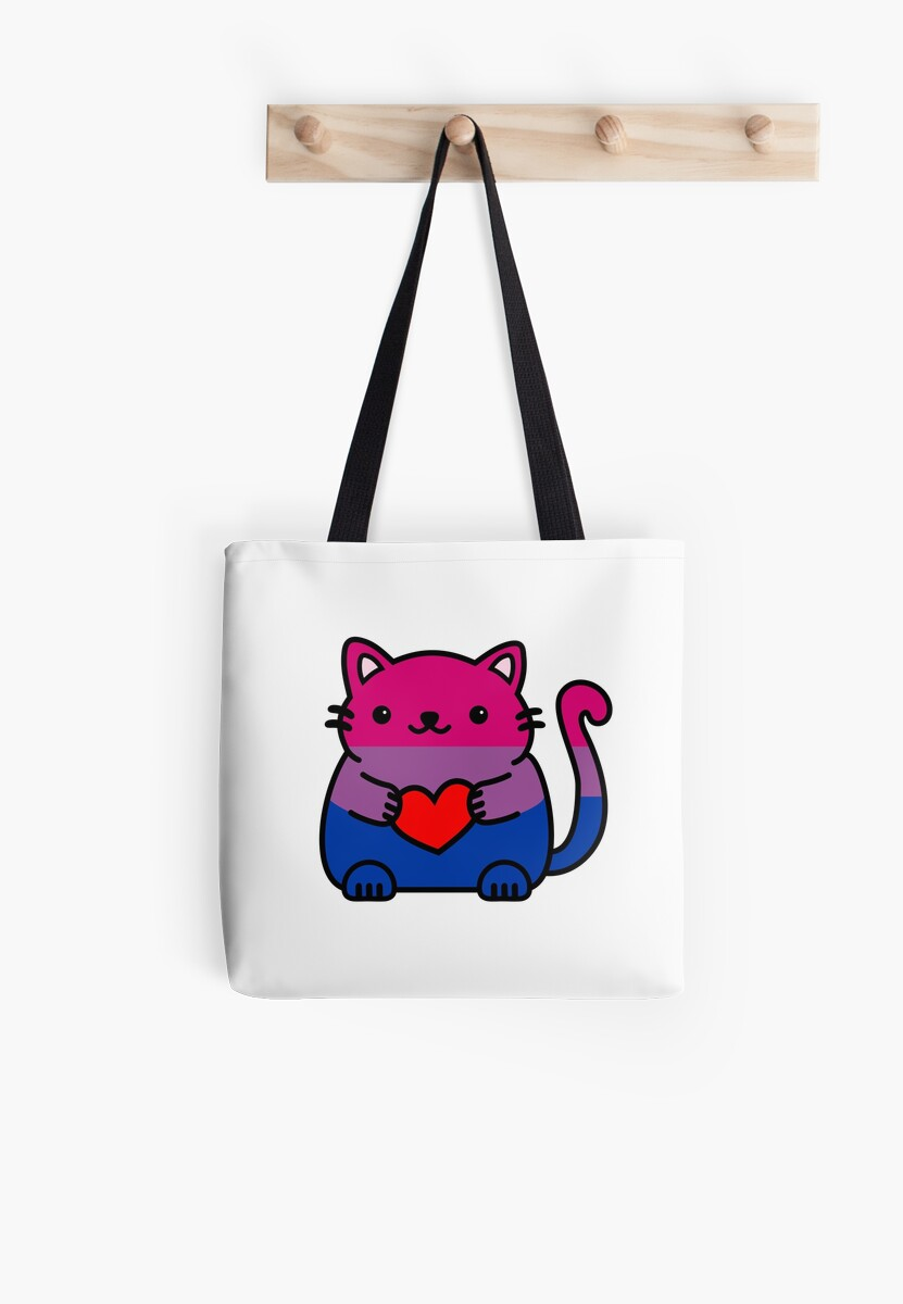 Bisexual Pride Flag Kitty by ilexdesigns