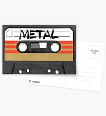 Heavy metal Music band logo Postcards