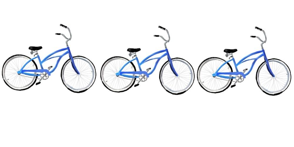Bike blue on blue by csdepalo