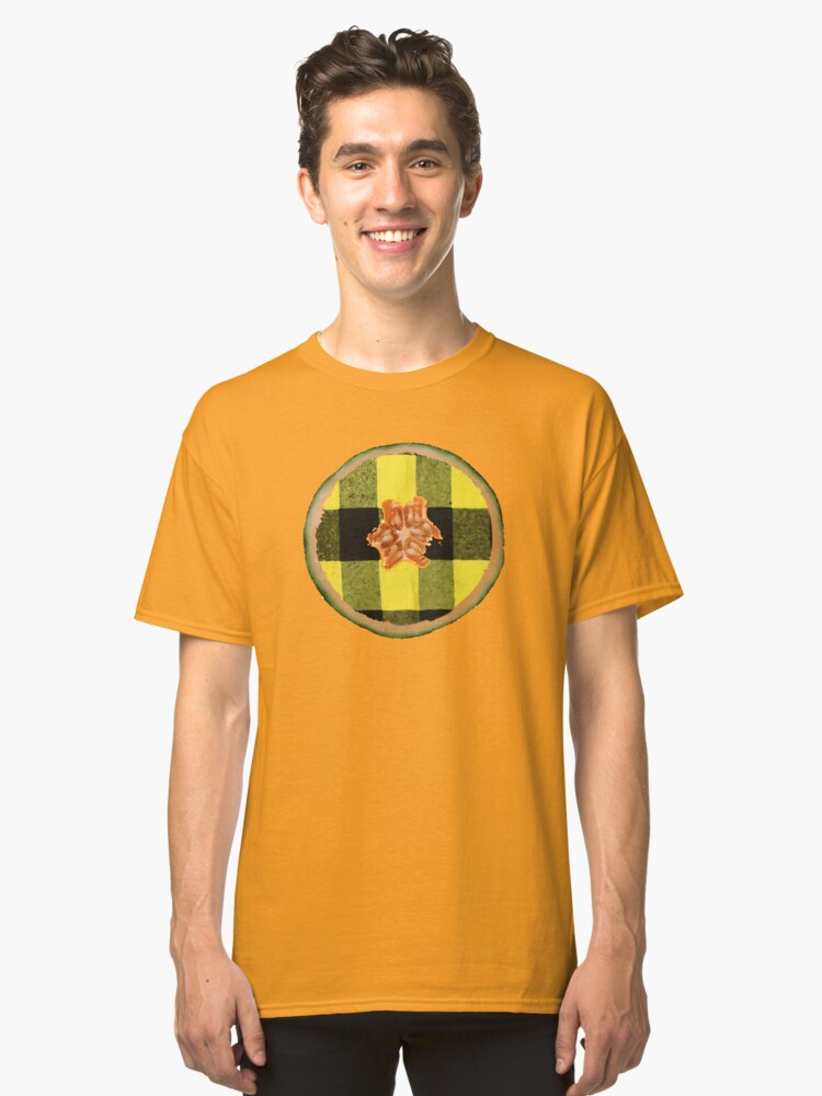 Yellow Flannel Melon Classic T-Shirt Front