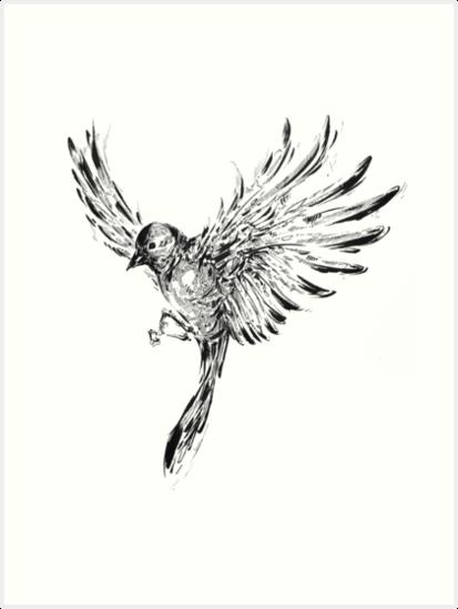 Flying Bird by CrandallArt