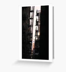 fire escape Greeting Card