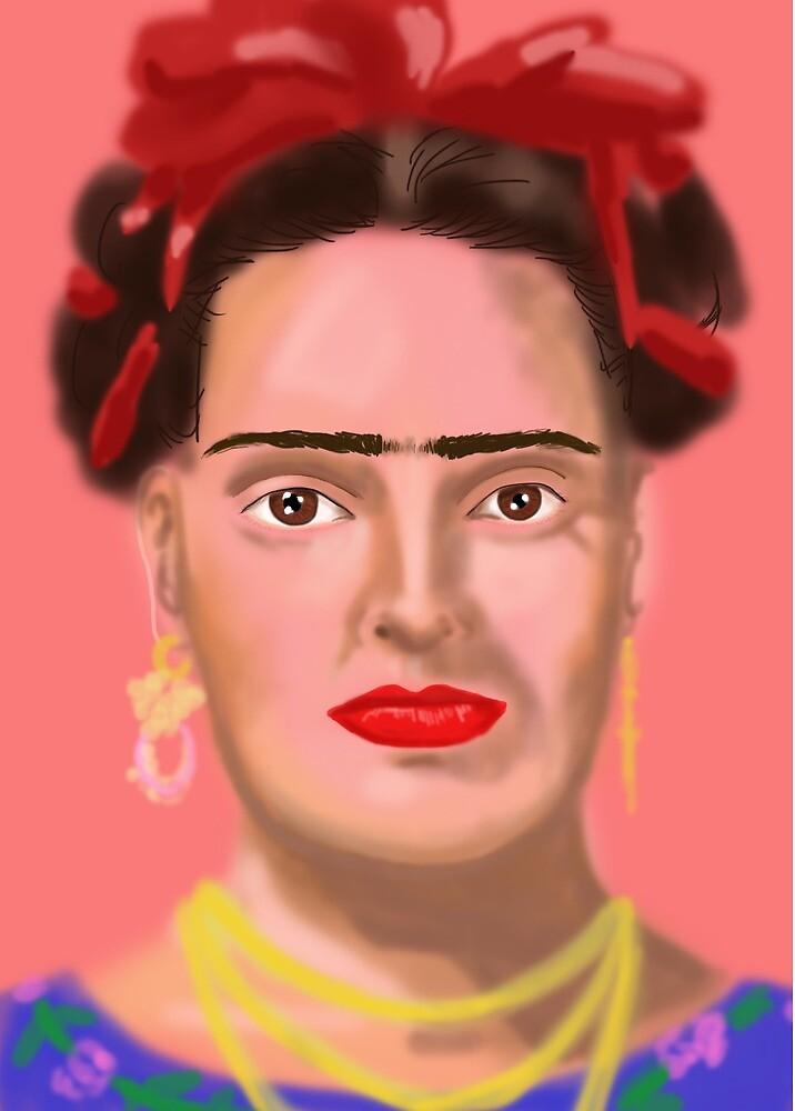 portrait of Frida Kahlo by Em-ie