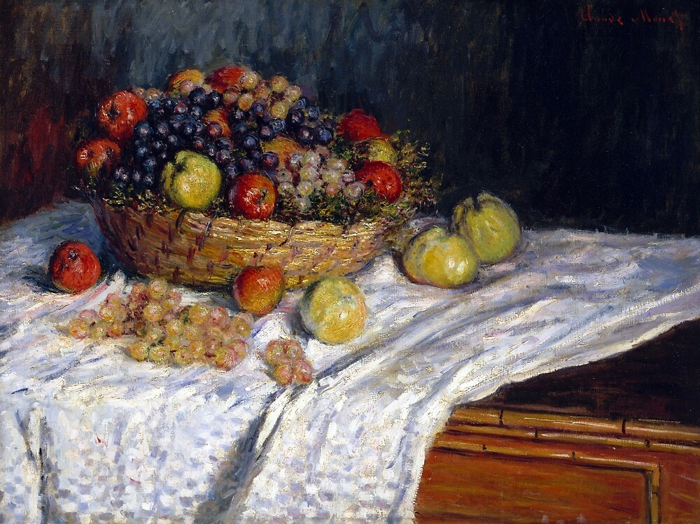 Claude Monet Apples and Grapes by pdgraphics