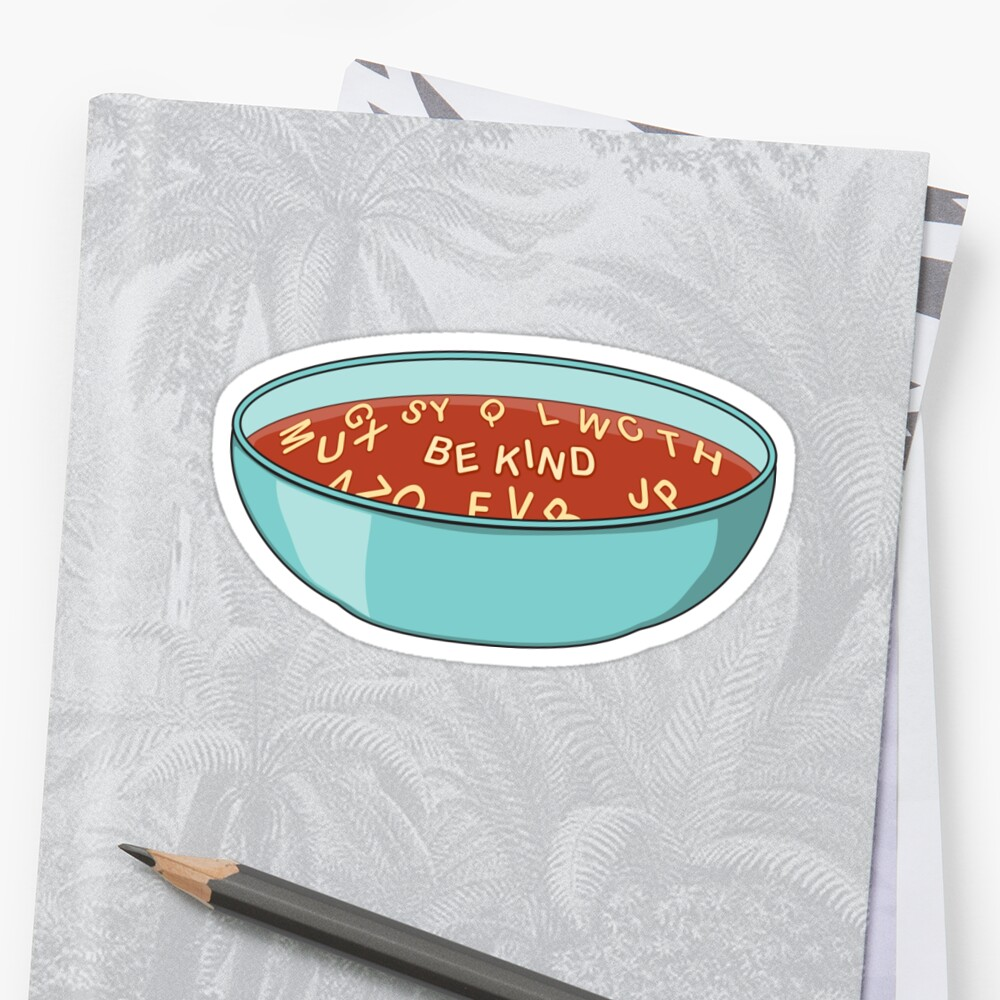 Be Kind Alphabet Soup by Stacy Mitchell